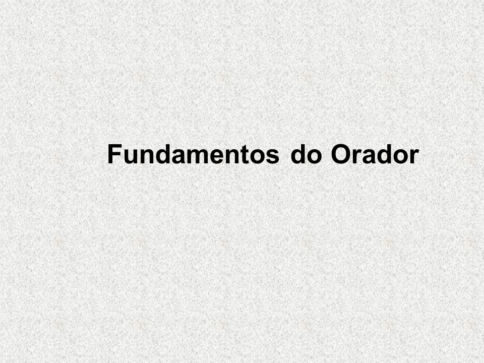 Fundamentos do Orador