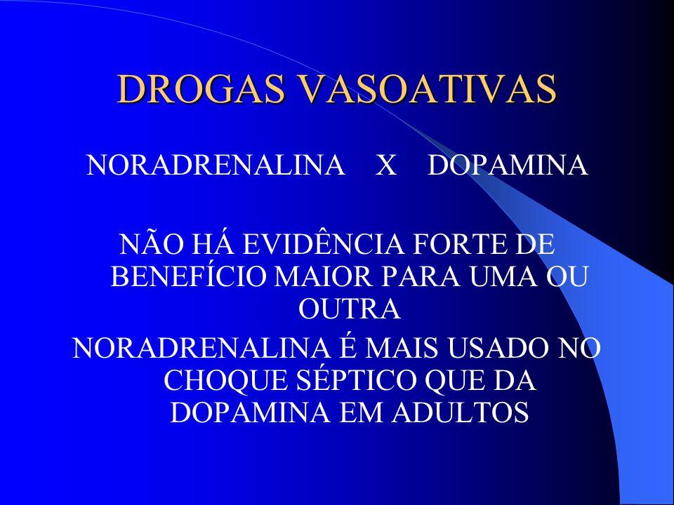 DROGAS VASOATIVAS NORADRENALINA X DOPAMINA