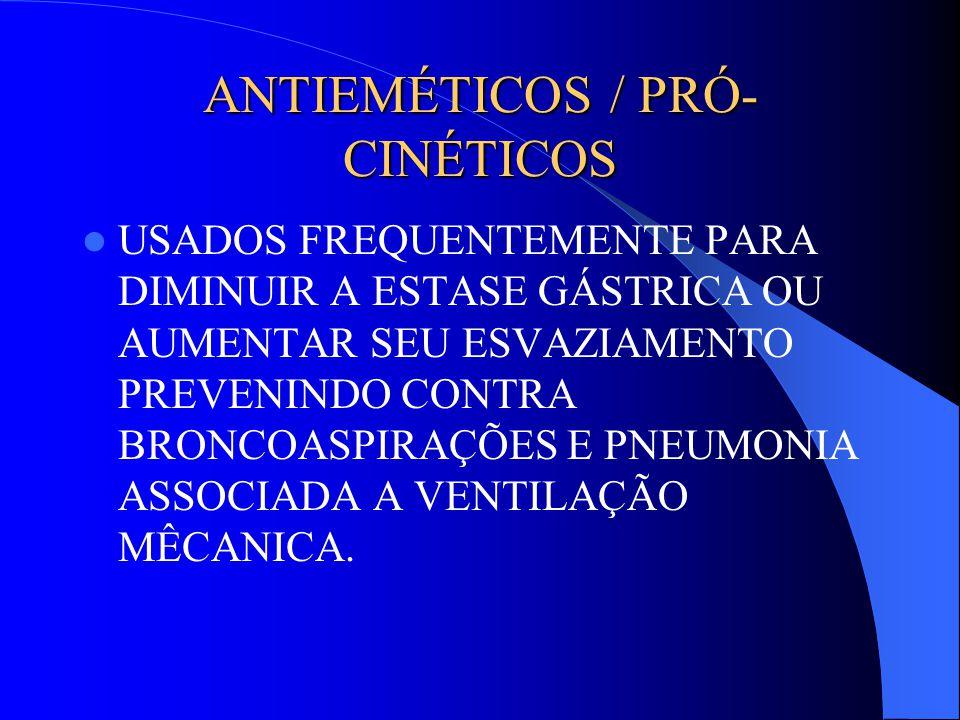 ANTIEMÉTICOS / PRÓ-CINÉTICOS