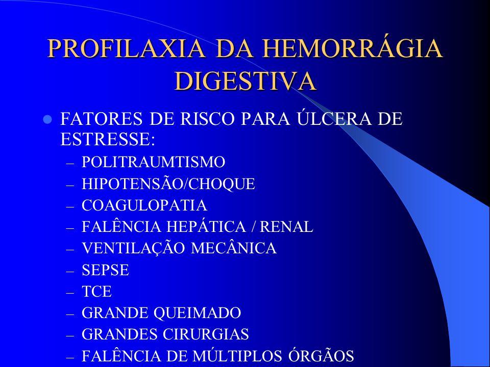 PROFILAXIA DA HEMORRÁGIA DIGESTIVA