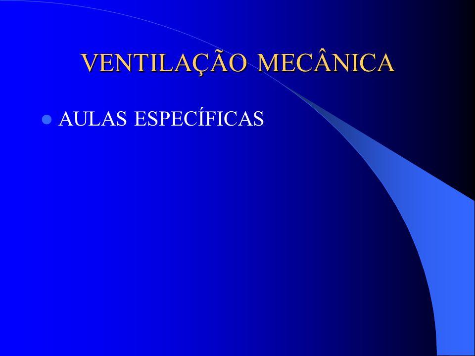 VENTILAÇÃO MECÂNICA AULAS ESPECÍFICAS
