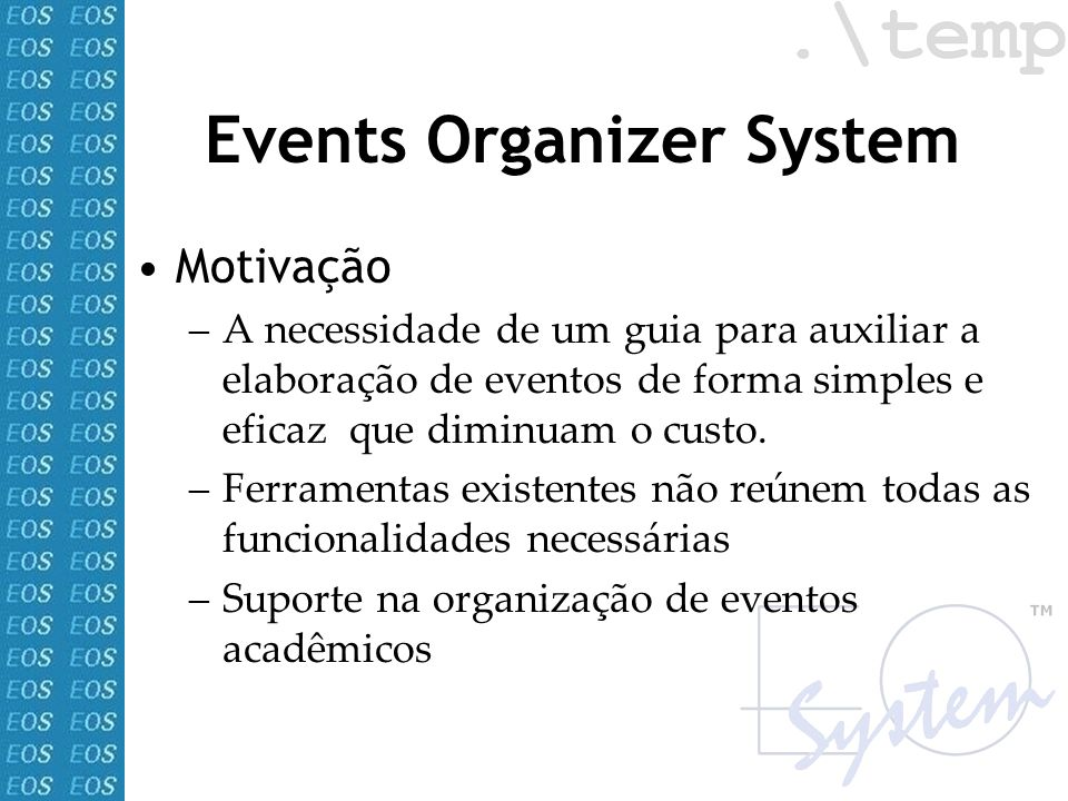 Events Organizer System