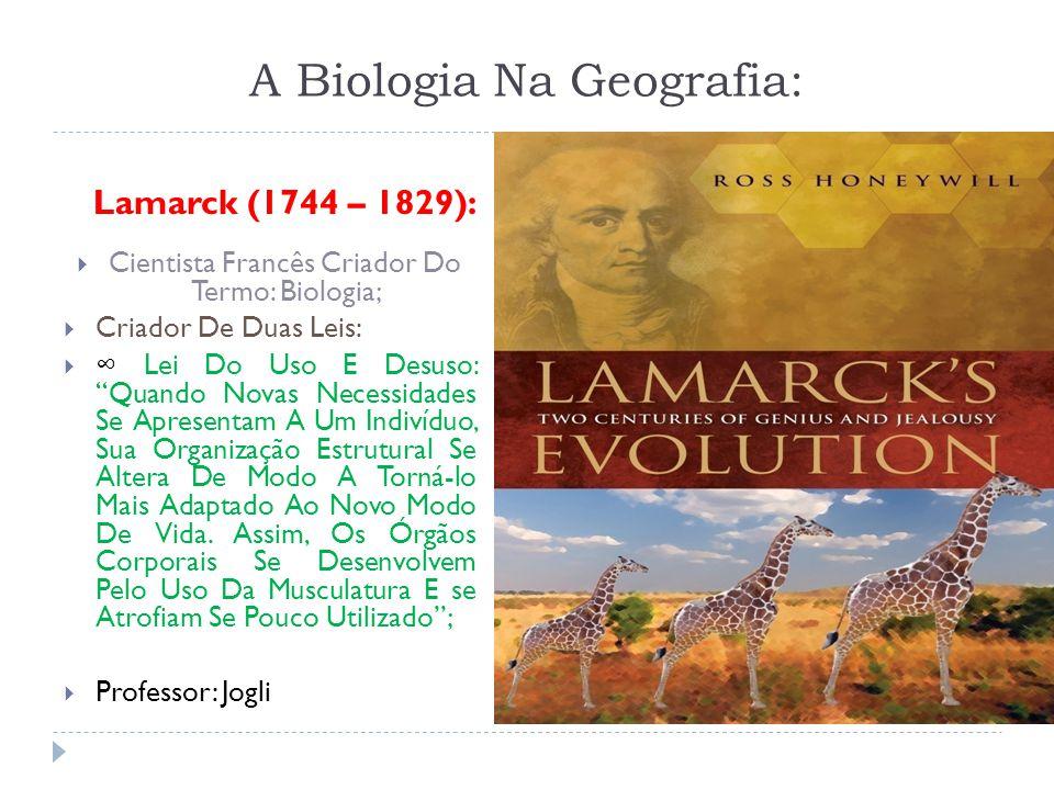 A Biologia Na Geografia: