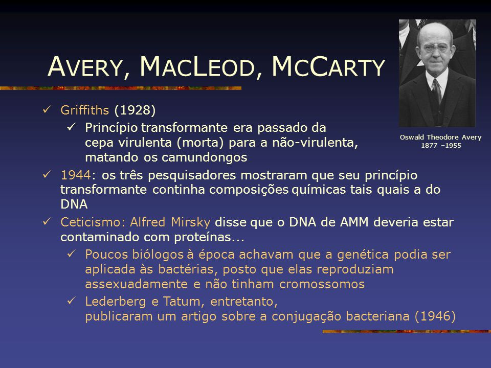 AVERY, MACLEOD, MCCARTY Griffiths (1928)