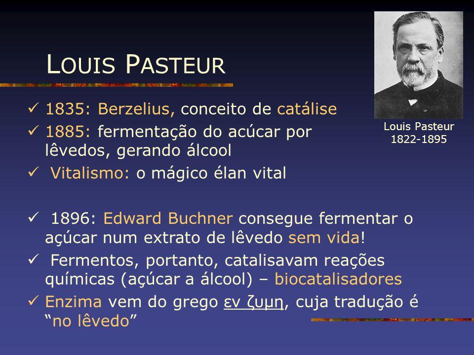 LOUIS PASTEUR 1835: Berzelius, conceito de catálise
