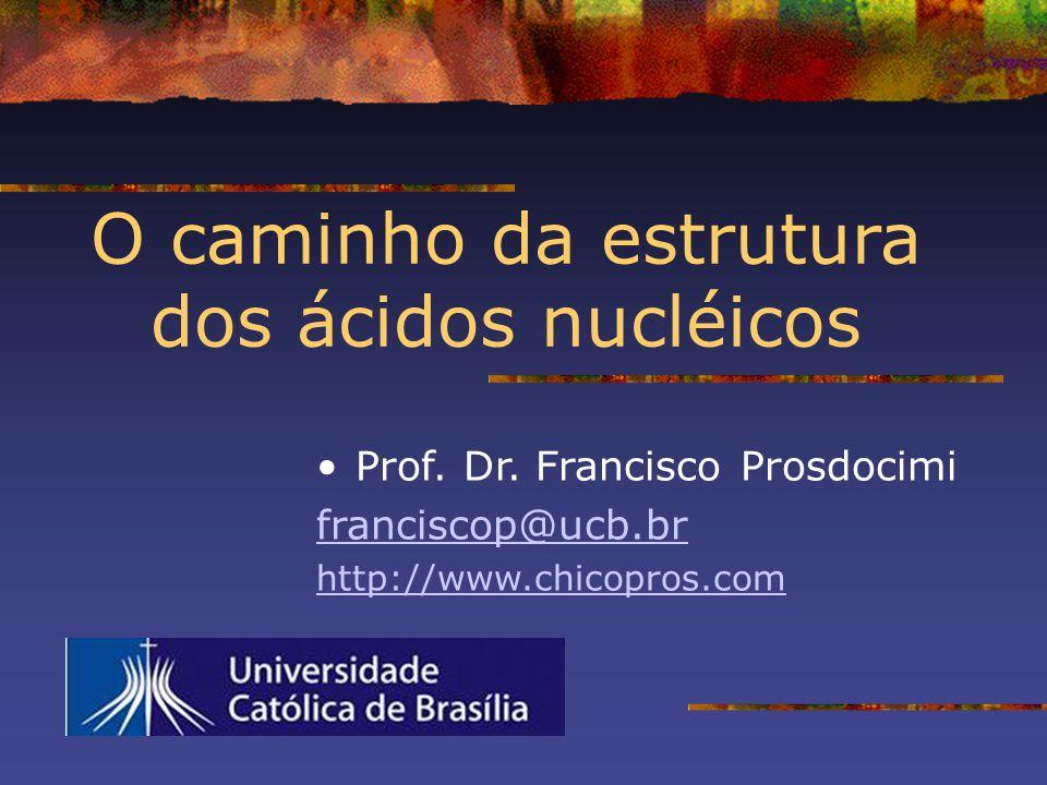 O caminho da estrutura dos ácidos nucléicos