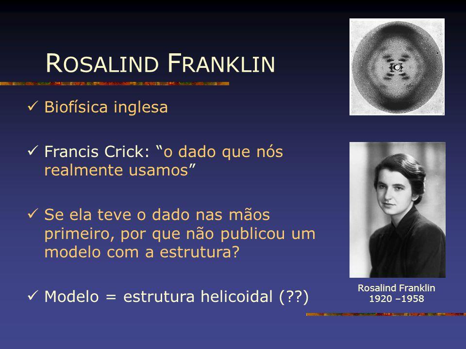 ROSALIND FRANKLIN Biofísica inglesa