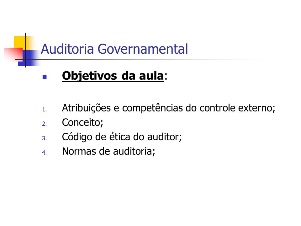 Auditoria Governamental