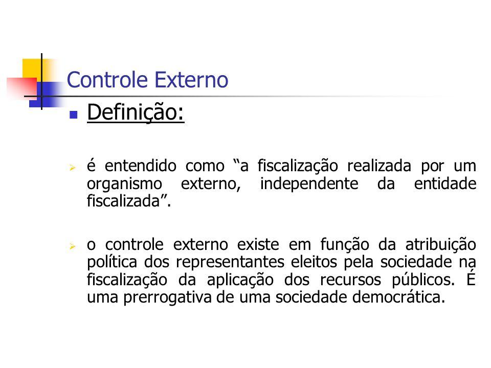 Controle Externo Definição: