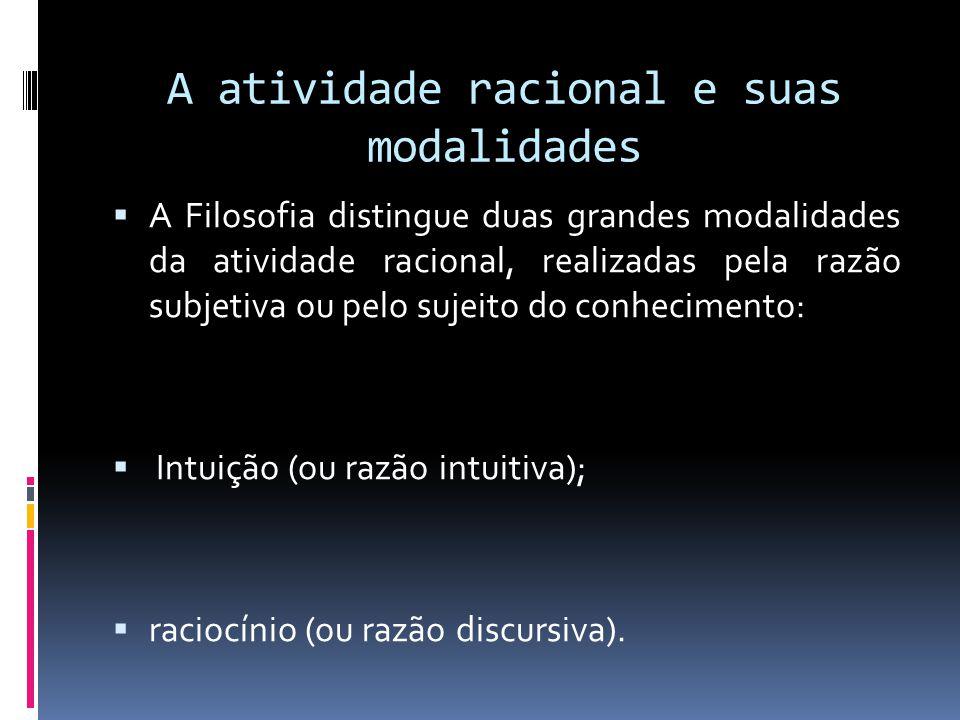 A atividade racional e suas modalidades