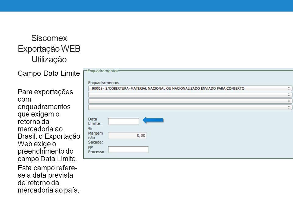 Siscomex Exportação WEB Utilização