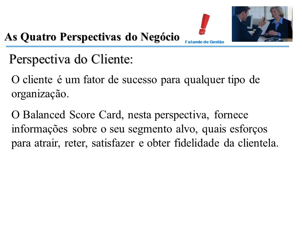 Perspectiva do Cliente: