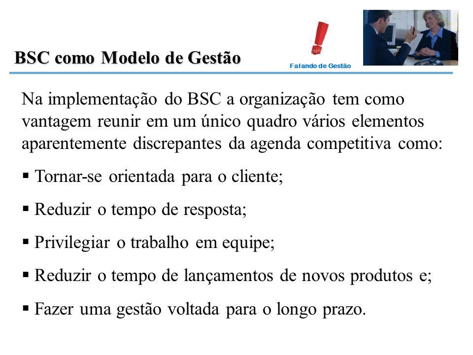 BSC como Modelo de Gestão
