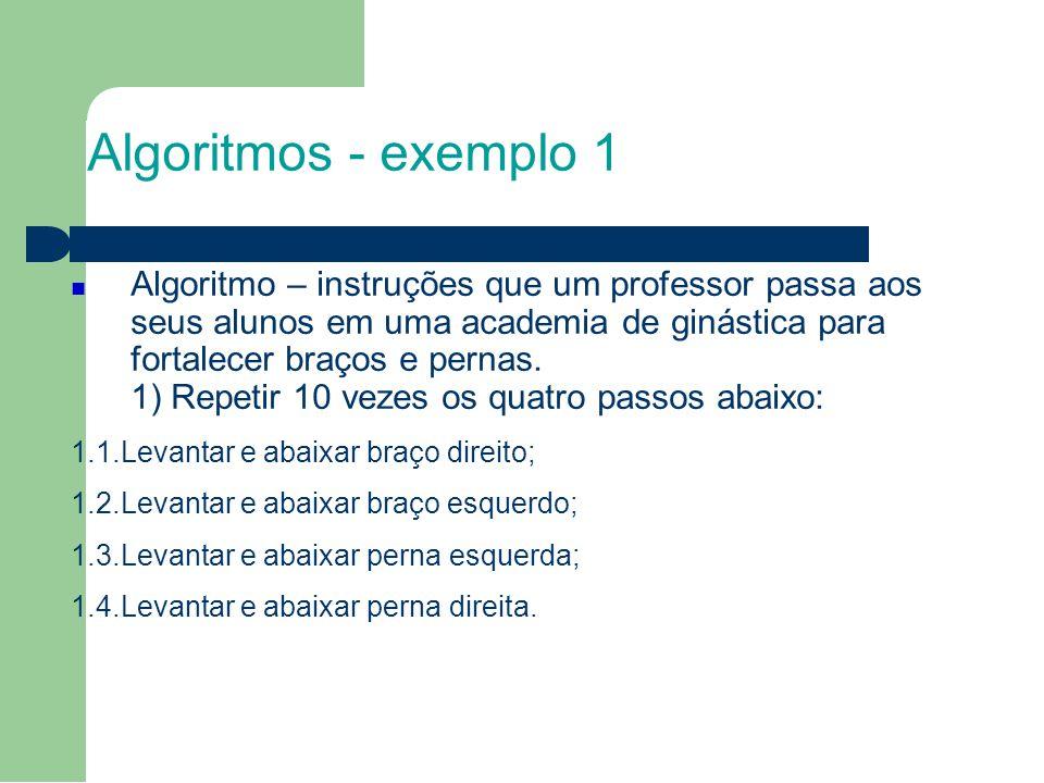 5 Algoritmos - exemplo 1.