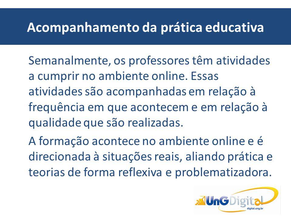 Acompanhamento da prática educativa
