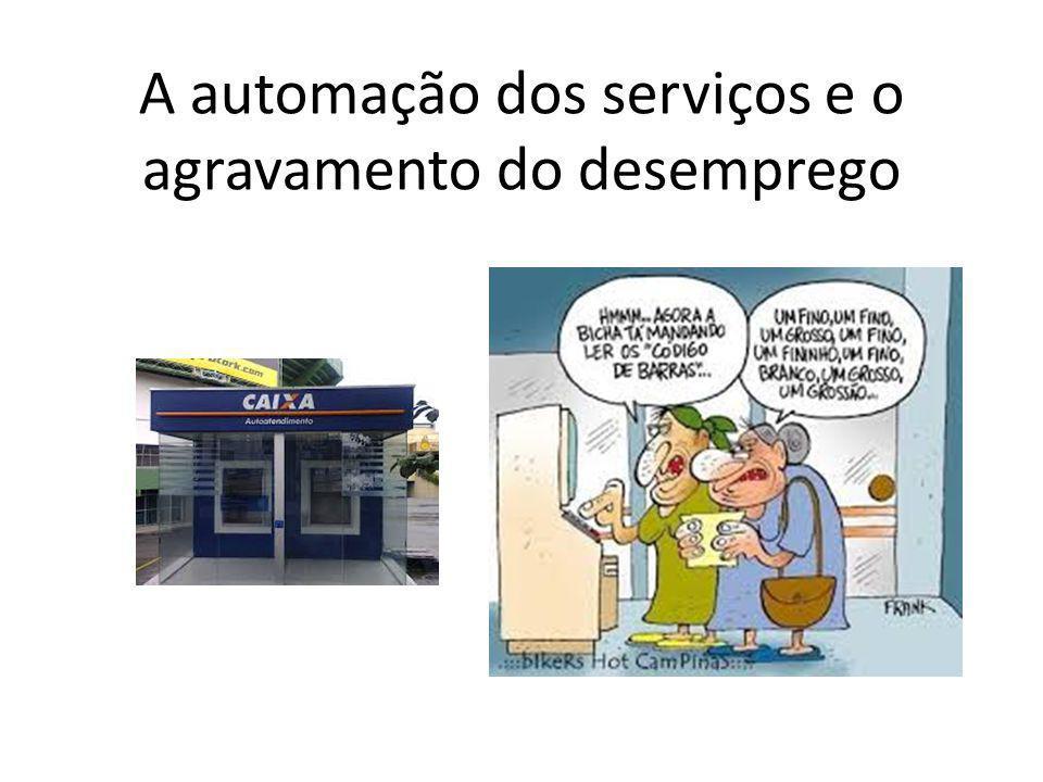 A automação dos serviços e o agravamento do desemprego