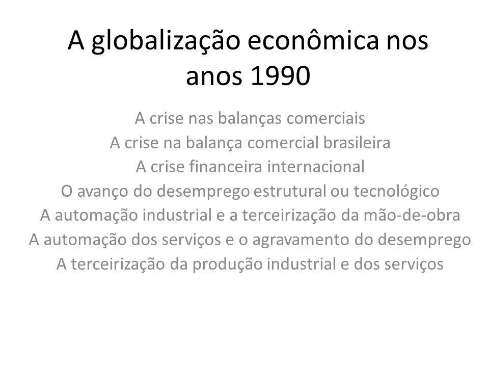 A globalização econômica nos anos 1990