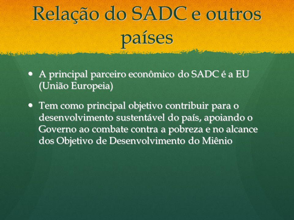Relação do SADC e outros países