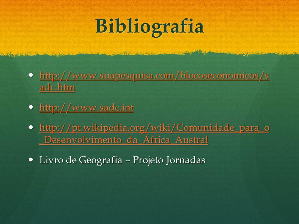 Bibliografia http://www.suapesquisa.com/blocoseconomicos/s adc.htm