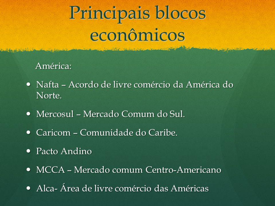 Principais blocos econômicos