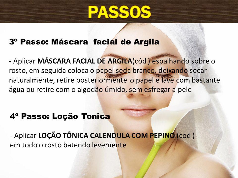 Passos 3º Passo: Máscara facial de Argila
