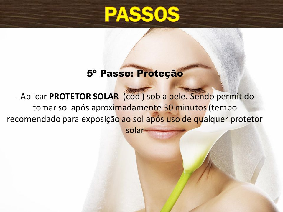 Passos 5º Passo: Proteção