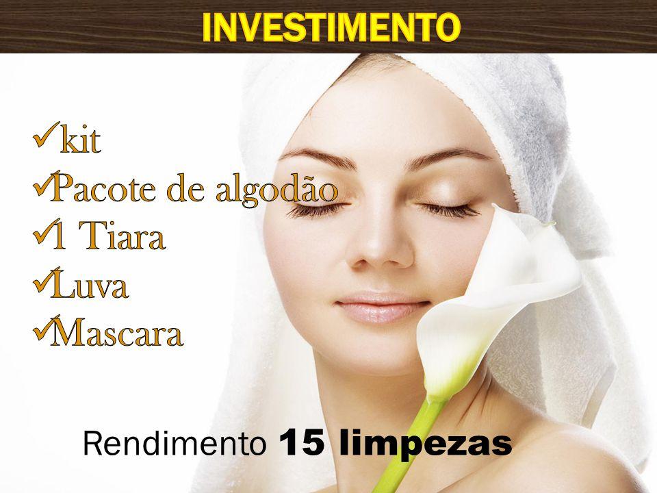 Investimento kit Pacote de algodão 1 Tiara Luva Mascara