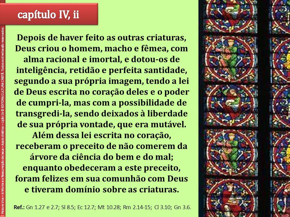 capítulo IV, ii