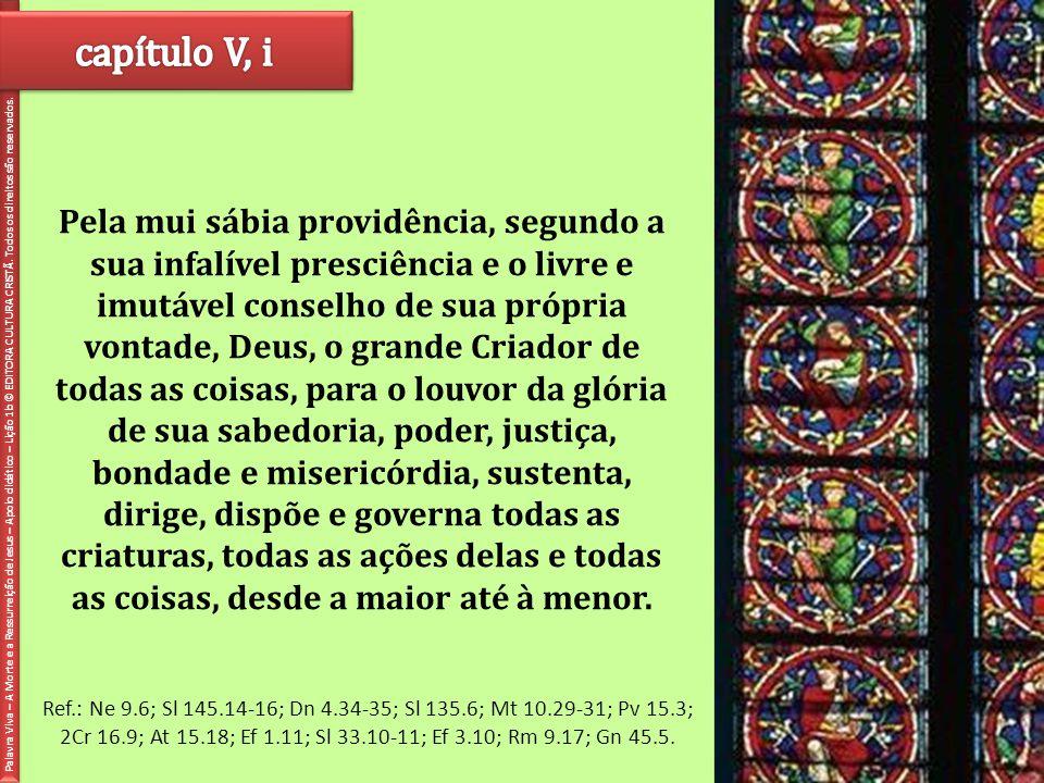 capítulo V, i