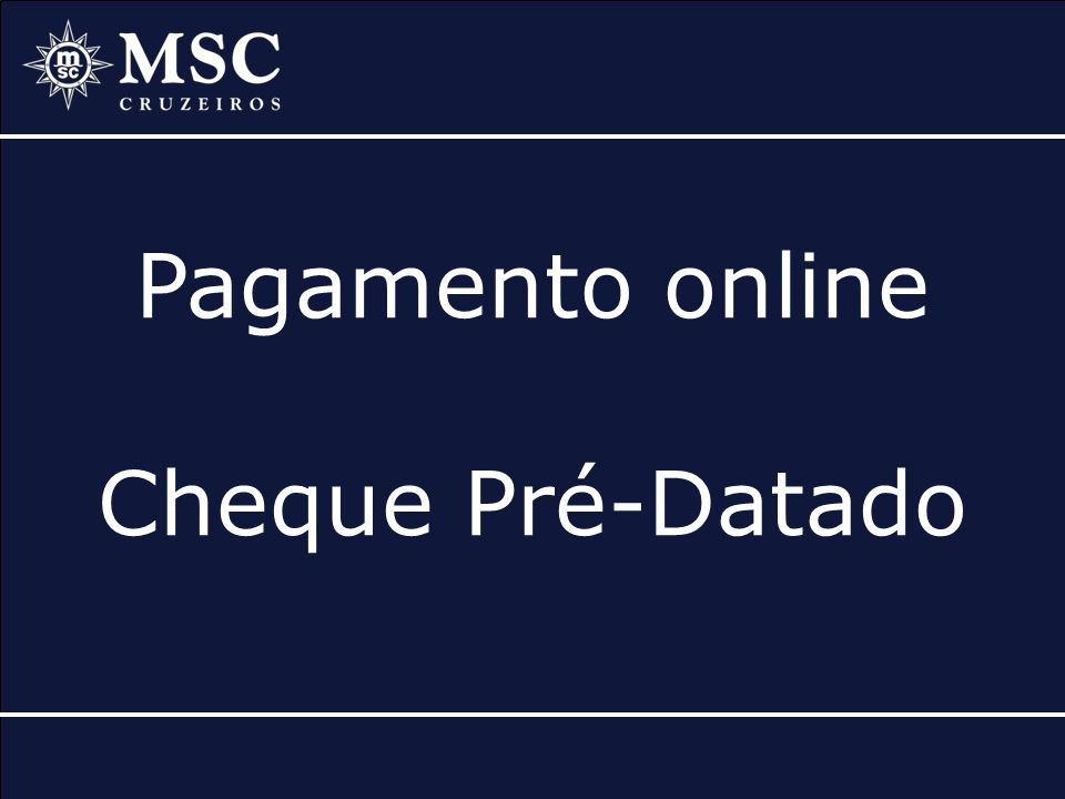 Pagamento online Cheque Pré-Datado