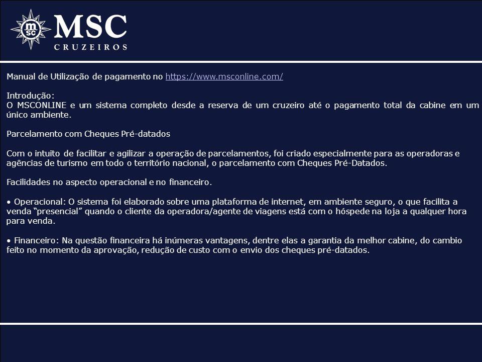Manual de Utilização de pagamento no https://www.msconline.com/