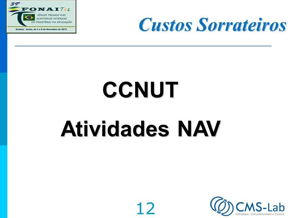 Custos Sorrateiros CCNUT Atividades NAV