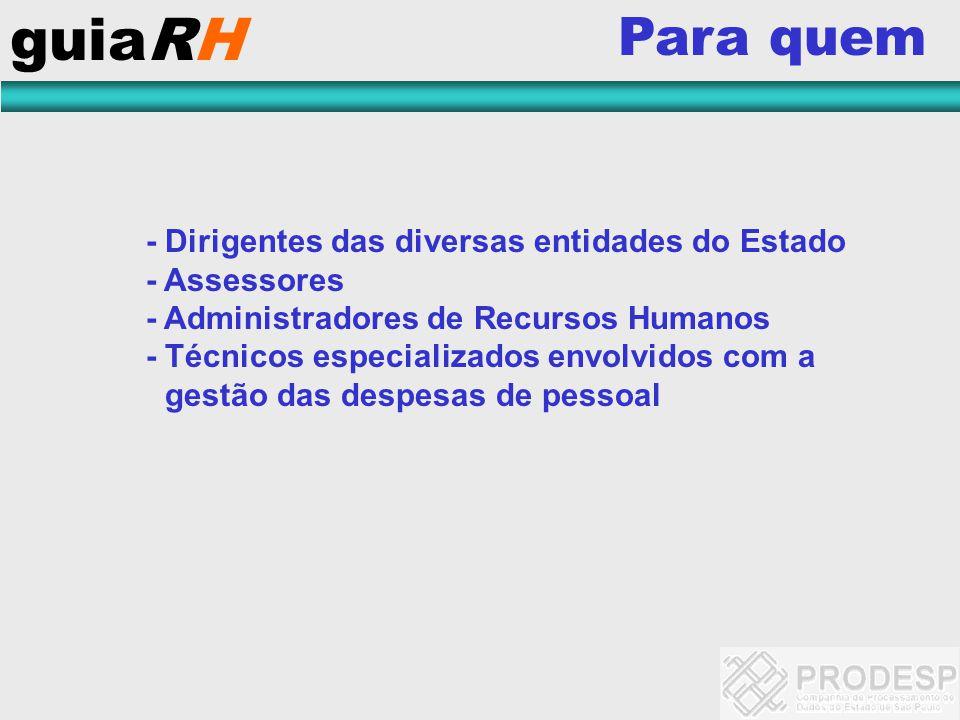 guiaRH Para quem - Assessores - Administradores de Recursos Humanos