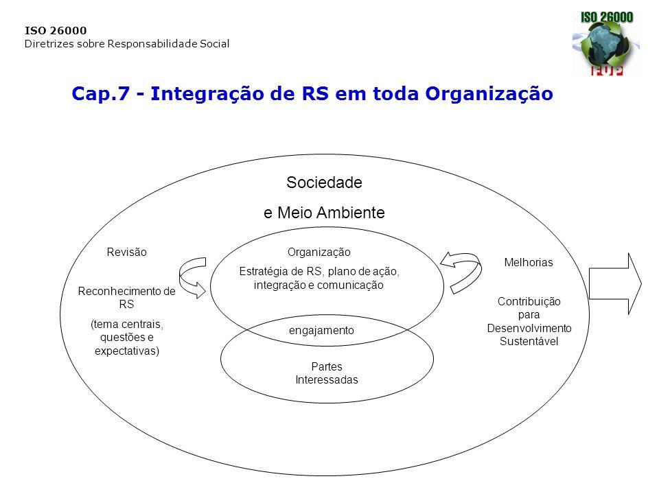 Cap.7 - Integração de RS em toda Organização