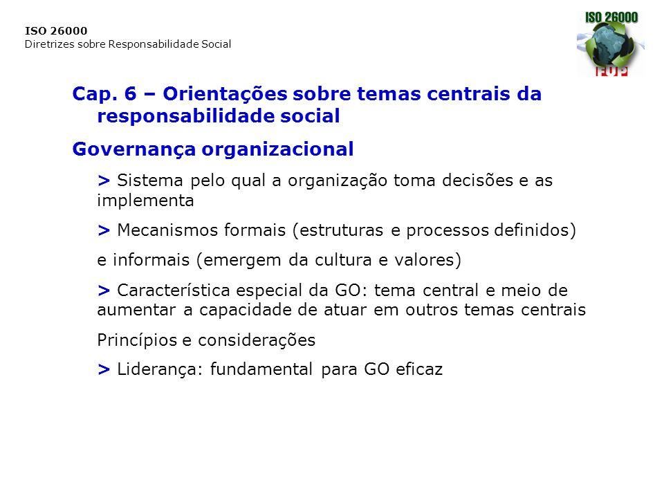 Cap. 6 – Orientações sobre temas centrais da responsabilidade social