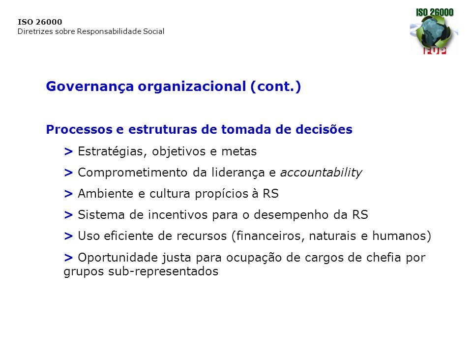 Governança organizacional (cont.)