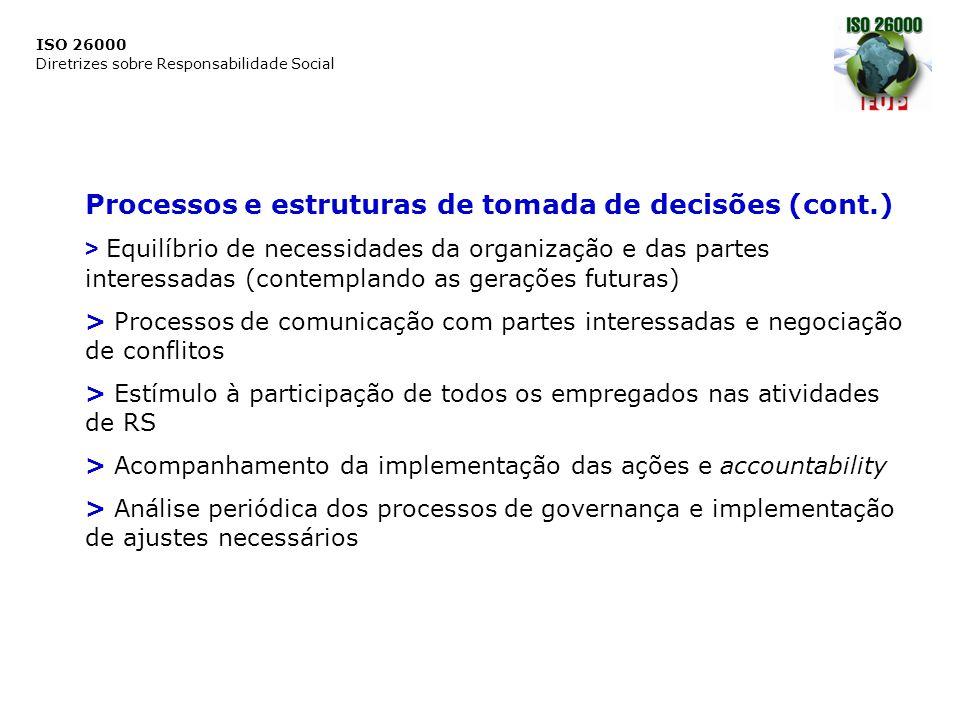 Processos e estruturas de tomada de decisões (cont.)
