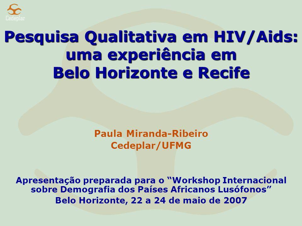 Pesquisa Qualitativa em HIV/Aids: uma experiência em