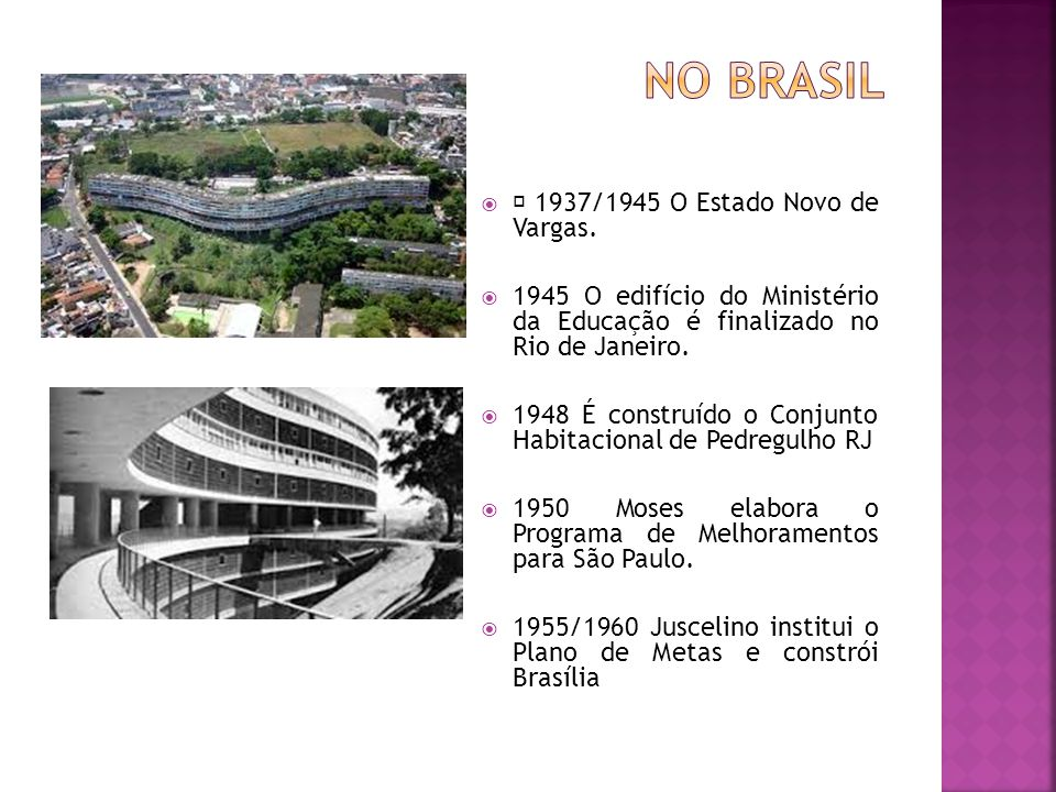 No Brasil  1937/1945 O Estado Novo de Vargas.