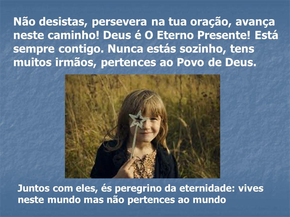Não desistas, persevera na tua oração, avança neste caminho