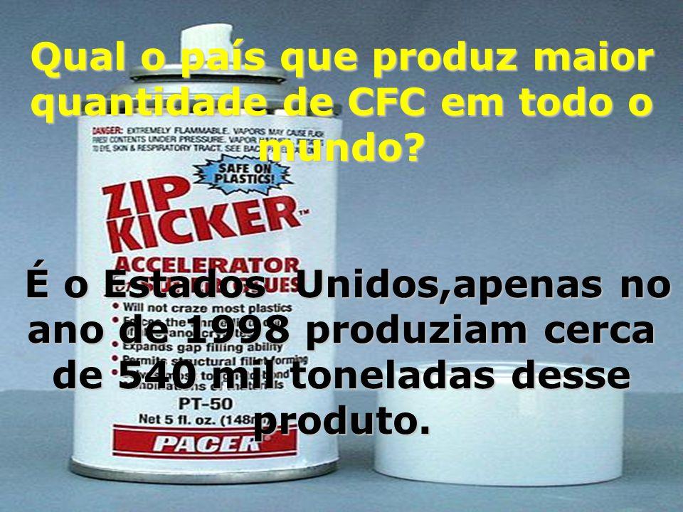 Qual o país que produz maior quantidade de CFC em todo o mundo
