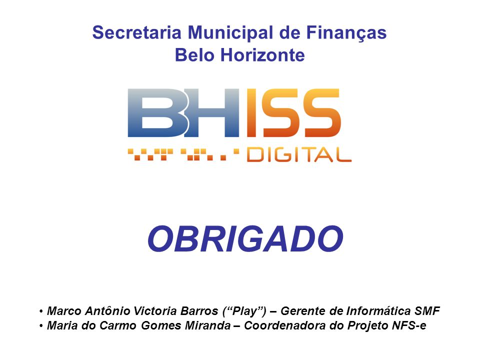 Secretaria Municipal de Finanças