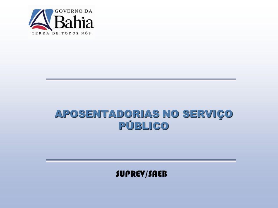 APOSENTADORIAS NO SERVIÇO PÚBLICO
