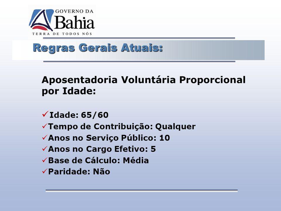 Aposentadoria Voluntária Proporcional por Idade: