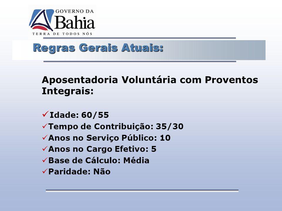 Aposentadoria Voluntária com Proventos Integrais: