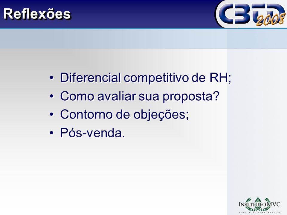 Reflexões Diferencial competitivo de RH; Como avaliar sua proposta