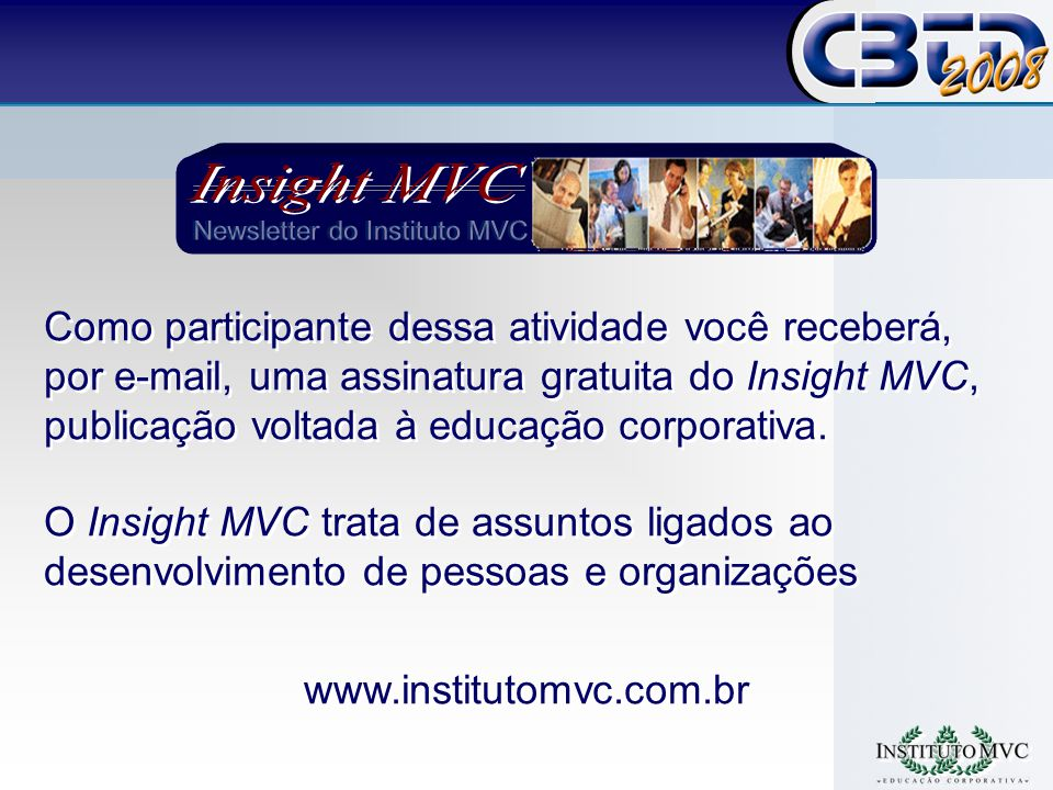 Newsletter do Instituto MVC