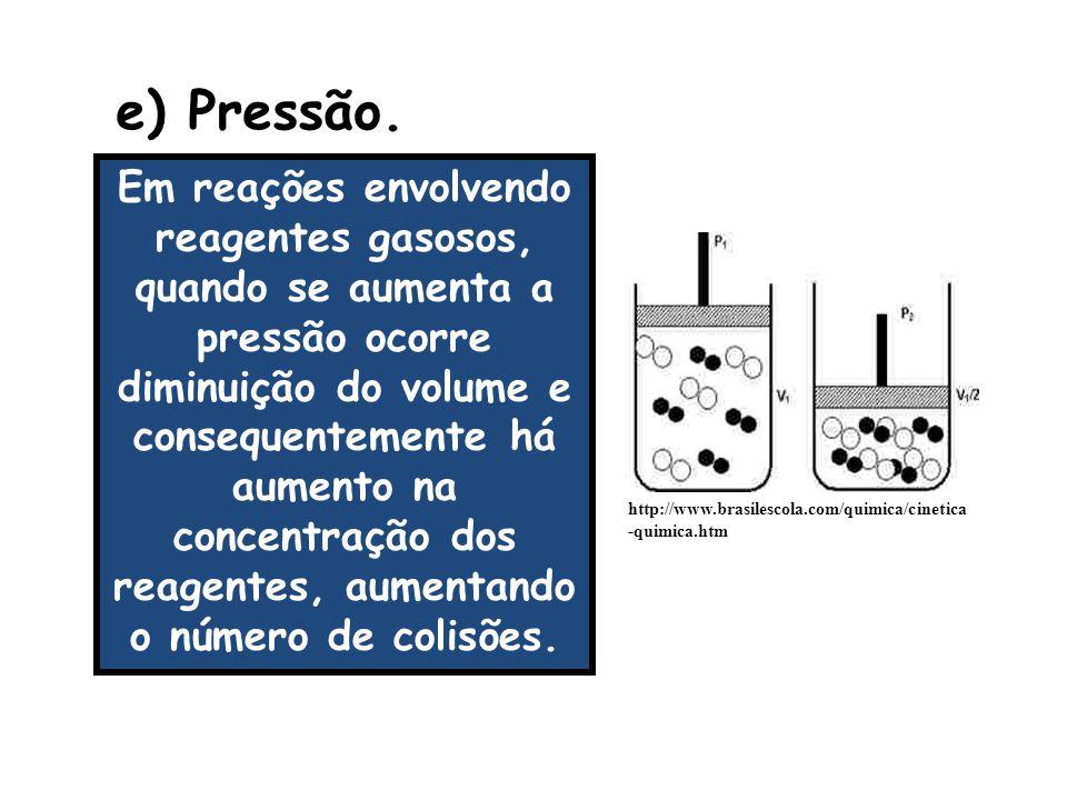 e) Pressão.