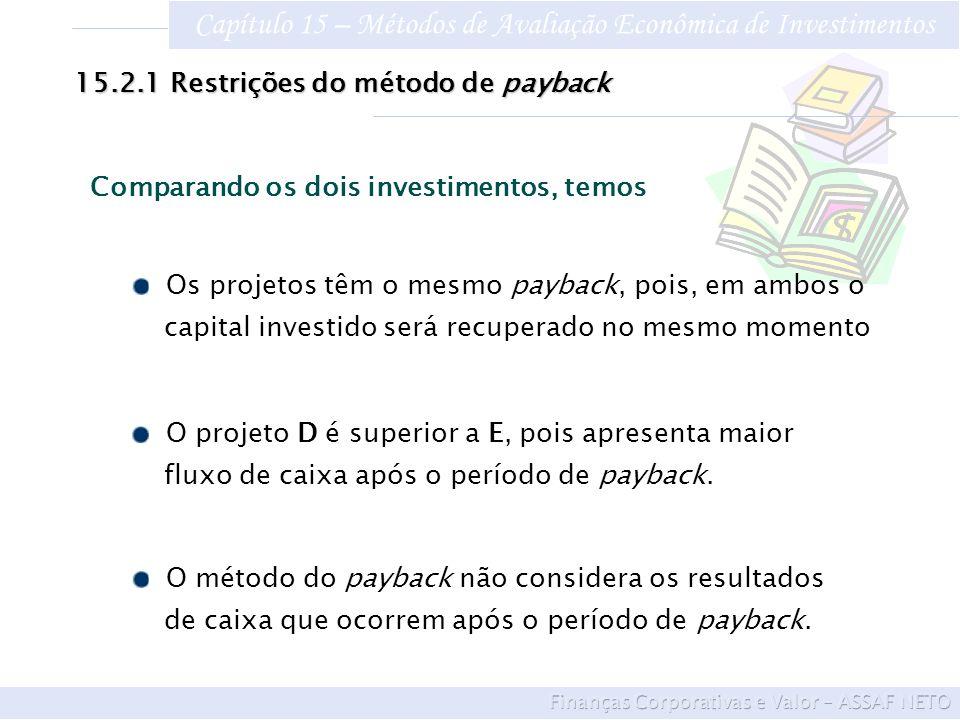 Capítulo 15 – Métodos de Avaliação Econômica de Investimentos