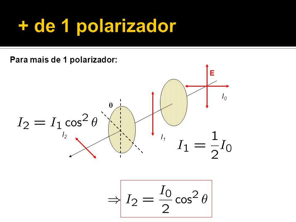 + de 1 polarizador Para mais de 1 polarizador: E q I0 I1 I2